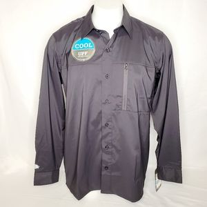 Dickies Men's Zip Pocket Button Down Shirt